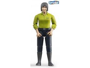 BRUDER 60405 Figurka žena,tmavé kalhoty