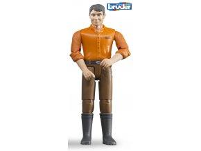 Figurka muž,hnědé kalhoty značky Bruder - BR 60007