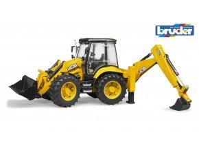 BRUDER 2454 Žlutý BAGR JCB 5CX eco s čelním nakladačem