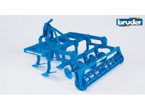 Modrý kypřič půdy LEMKEN značky Bruder - BR 02329