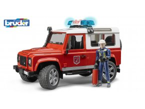 HASIČSKÉ AUTO LAND ROVER s figurkou ZNAČKY BRUDER - BR 02596