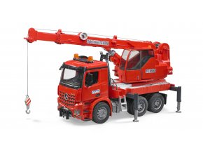 Červený jeřáb značky BRUDER MB Arocs - BR 03670