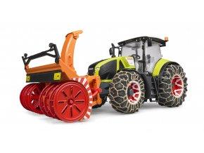 Traktor Claas Axion 950 se sněhovou frézou značky BRUDER - BR 03017