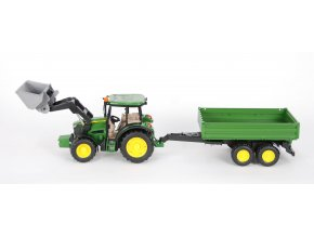 BRUDER 1793 Traktor John Deere M5115 s přední lžící a valnikem