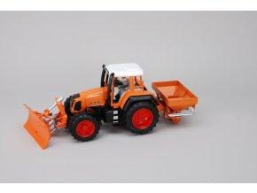 Traktor Fendt 926 Vario s radlici a posypem ,oranžový