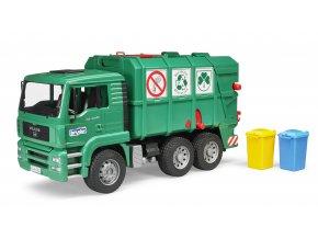 BRUDER 2753 Nákl.auto MAN-TGA - popelář, zelený