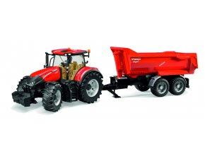 Traktor CASE IH Optum 300  + vůz KRAMPE
