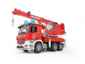 BRUDER 3675 MB AROCS - jeřáb,červený