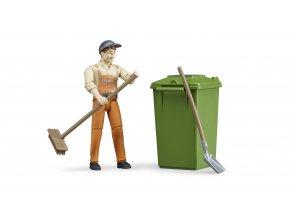 Figurka - zametač s popelnicí