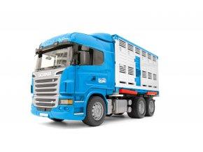BRUDER 3549 Nákladní auto SCANIA - kontejner na zvířata