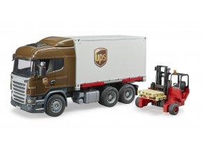 BRUDER 3581 Nákladní auto SCANIA - kontejner, vozík