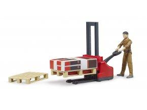 BRUDER 62210 Logistický set, figurka