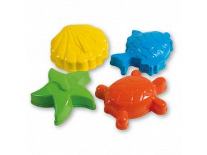 Androni-Bábovičky 12 cm mořská zvířátka - 4 ks