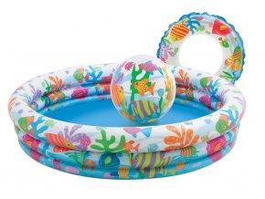 Intex bazén s kruhem a balónem