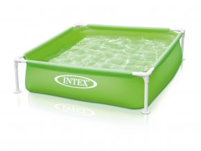 Intex bazének mini s rámem,zelený