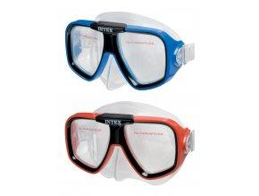Intex maska sportovní plavecká, červená/ modrá