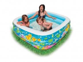 Intex bazén akvarium hranatý 159x159x50cm