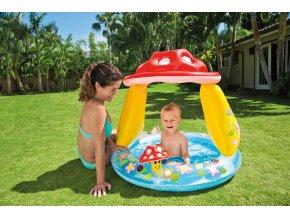 Intex bazének nafukovací-mochomůrka