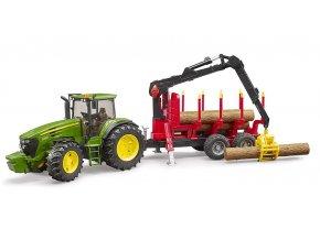 BRUDER 3054 Traktor JOHN DEERE 7930 + valník s rukou