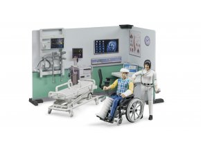 BRUDER 62711 Zdravotnický stanice,figurky,vozík,lůžko