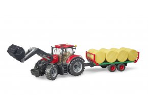 Traktor CASE IH Optum 300CVX + vůz na balíky