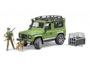 LAND ROVER + figurka lesníka  se psem