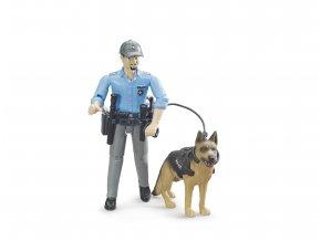 BRUDER 62150 bworld figurka - policista, pes