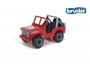 Červené AUTO JEEP značky Bruder - BR 02540