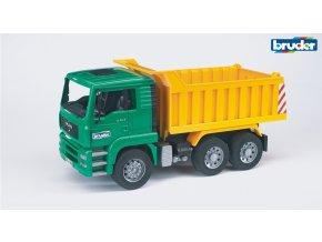 Zeleno žlutá SKLÁPĚČKA MAN TGA značky Bruder - BR 02765