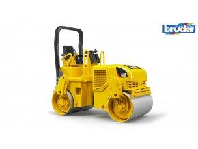 Žlutý VÁLEC CAT vibrační značky Bruder - BR 02433