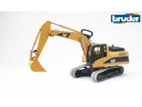 Žlutý BAGR CAT na pásech značky Bruder - BR 02438