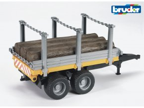 Přívěs na dřevo s kladami značky Bruder - BR 02213