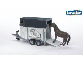 BRUDER 2028 Přepravník na koně s jedním koněm
