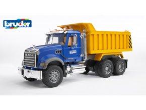 BRUDER 2815 Modro žlutá SKLÁPĚČKA MACK Granite