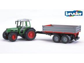 BRUDER 2104 Zelený TRAKTOR FENDT 209 S s valníkem