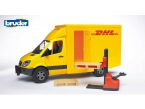 Žluté AUTO MERCEDES BENZ Sprinter DHL značky Bruder - BR 02534