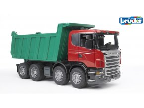 Červeno zelená SKLÁPĚČKA SCANIA R značky Bruder - BR 03550
