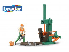BRUDER 62650 Set lesní hospodářství s figurkou a příslušenstvím