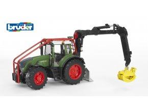 Zelený TRAKTOR FENDT 936 VARIO lesní traktor značky Bruder - BR 03042