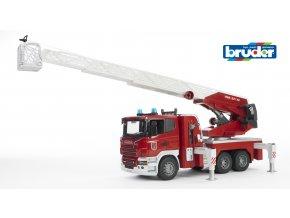 Červené AUTO HASIČI SCANIA R se žebříkem značky Bruder - BR 03590