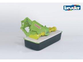 Zeleno bílá ŽACÍ LIŠTA CLAAS Disco 3050FC značky Bruder - BR 02324