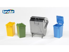 Sada popelnic a kontejner značky Bruder - BR 02607