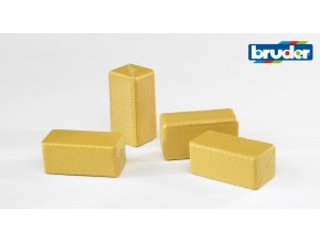 Balíky slámy hranaté 4 Ks značky Bruder - BR 02342