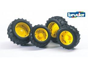 Žlutá dvojitá kola pro serii 02.. značky Bruder - BR 02321