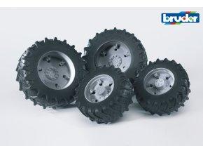 Šedá dvojitá kola pro serii 03.. značky Bruder - BR 03315