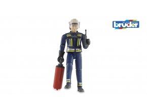 BRUDER 60100 Figurka hasič v obleku s příslušenstvím