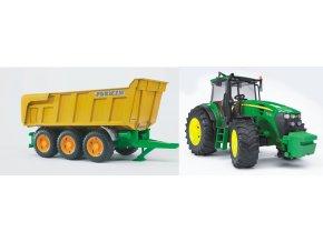 BRUDER 1173 Traktor John Deere 7930 s valníkem Joskin