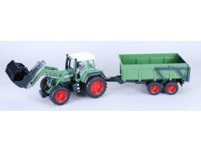 Traktor Fendt Favorit 926 se lžící a valníkem