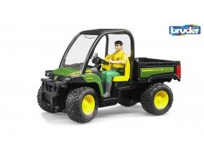 BRUDER 2490 Zelené AUTO JOHN DEERE Gator XUV 855D s řidičem