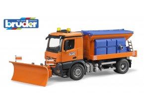 Oranžové  AUTO MB Arocs sypač,zimní údržba značky Bruder - BR 03685